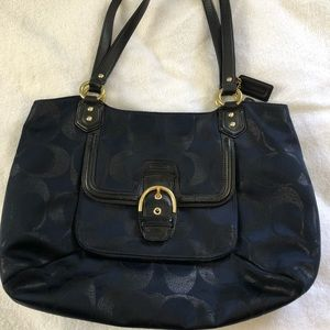 Coach purse. Navy and black.